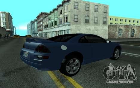 Mitsubishi Eclipse GTS Tunable para GTA San Andreas esquerda vista