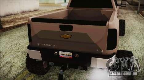 Chevrolet Silverado Triple Door para GTA San Andreas vista traseira