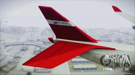 GTA 5 Cargo Plane para GTA San Andreas traseira esquerda vista