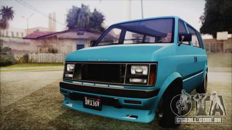 GTA 5 Declasse Moonbeam No Interior para GTA San Andreas traseira esquerda vista