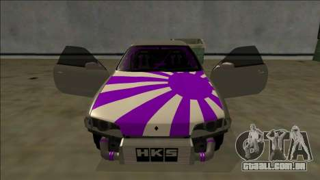 Nissan Skyline R32 Drift para as rodas de GTA San Andreas