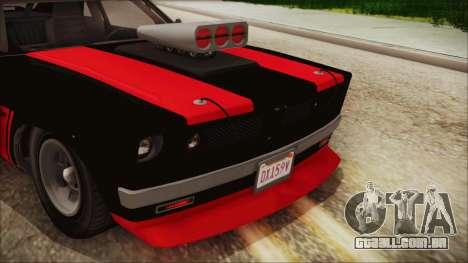 GTA 5 Declasse Tampa IVF para GTA San Andreas vista interior