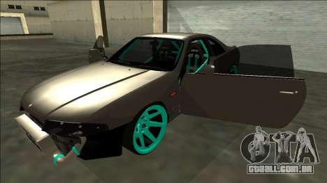 Nissan Skyline R33 Drift para vista lateral GTA San Andreas