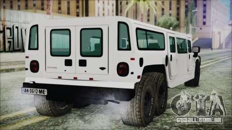 Hummer H1 Limo 6x6 para GTA San Andreas esquerda vista