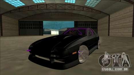 Mazda RX-7 FC Drift para GTA San Andreas vista interior