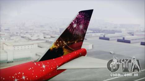 Boeing 747-100 Merry Christmas and Happy NY para GTA San Andreas traseira esquerda vista