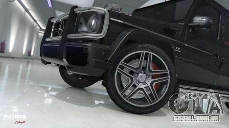 GTA 5 Mercedes-Benz G63 AMG v1 traseira direita vista lateral