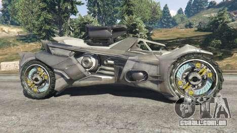 GTA 5 Batmobile Mk2 v0.9 vista lateral esquerda
