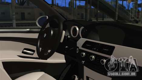 BMW M5 E60 Bosnian Police para GTA San Andreas vista direita