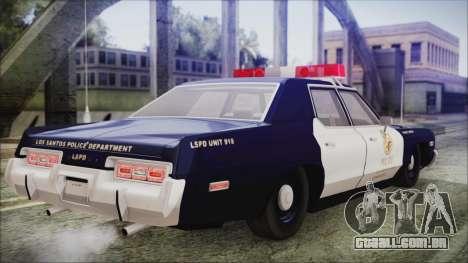 Dodge Monaco 1974 LSPD General Duties Unit para GTA San Andreas esquerda vista