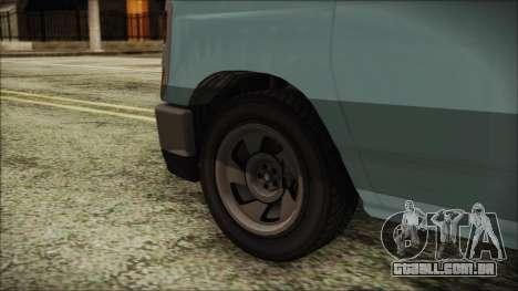GTA 5 Bravado Rumpo para GTA San Andreas traseira esquerda vista