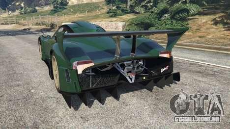 GTA 5 Pagani Zonda R v0.91 traseira vista lateral esquerda