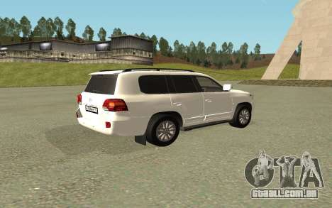 Toyota Land Cruiser 200 Bulkin Edition para GTA San Andreas esquerda vista