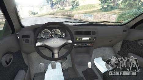 GTA 5 Toyota Corolla 1.6 XEI [black edition] v1.02 traseira direita vista lateral
