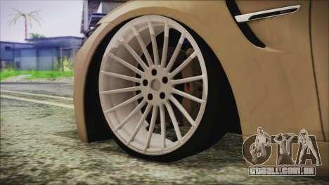 BMW M4 Coupe para GTA San Andreas traseira esquerda vista