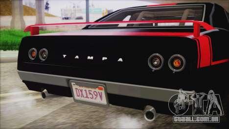 GTA 5 Declasse Tampa IVF para GTA San Andreas vista superior