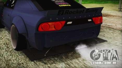 Nissan 180SX Rocket Bunny Edition para GTA San Andreas vista traseira