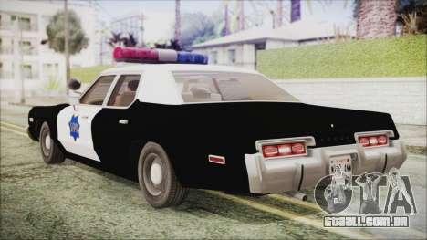 Dodge Monaco 1974 SFPD IVF para GTA San Andreas esquerda vista