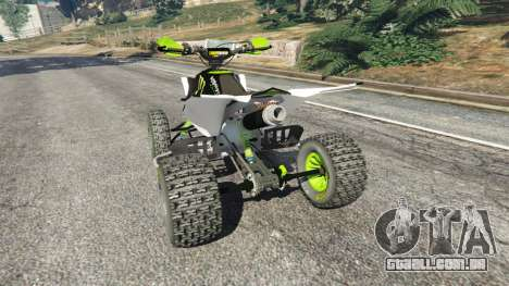 GTA 5 Yamaha YZF 450 ATV Monster Energy traseira vista lateral esquerda