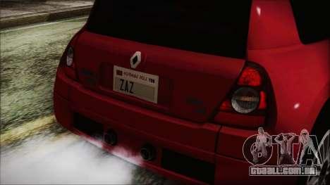 Renault Clio v6 Tunable para GTA San Andreas vista direita