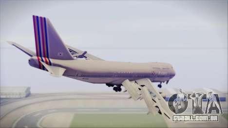 Boeing 747-48E Asiana Airlines para GTA San Andreas esquerda vista