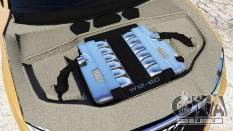 GTA 5 Audi RS7 2016 traseira direita vista lateral