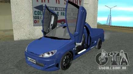 Pegeout 206 PickUP para GTA San Andreas