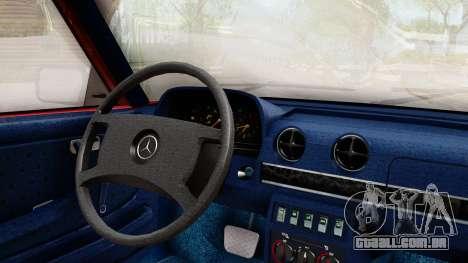 Mercedes-Benz 230E AMG 3.2 1982 Evolution Mod para GTA San Andreas vista direita