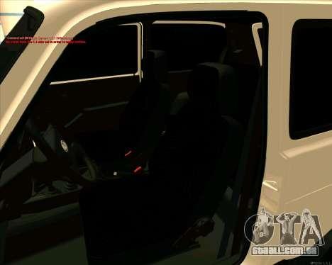 Niva 2121-Dorjar [ARM] para GTA San Andreas vista superior