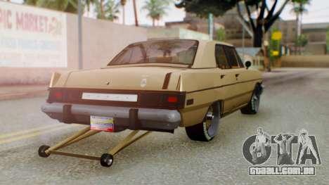 Dodge Dart 1975 Estilo Drag para GTA San Andreas esquerda vista