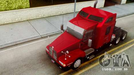 Kenworth T600 Aerocab 72 Sleeper para GTA San Andreas vista superior
