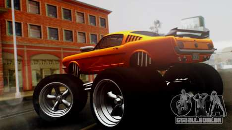 Ford Mustang 1966 Chrome Edition v2 Monster para GTA San Andreas esquerda vista
