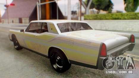 GTA 5 Vapid Chino Tunable IVF para GTA San Andreas vista inferior