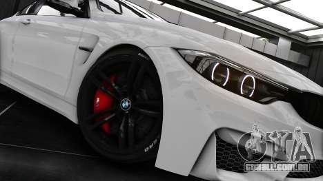 BMW M4 F82 2015 para GTA 4 vista de volta
