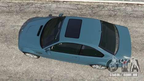 GTA 5 BMW M3 (E46) 2005 voltar vista