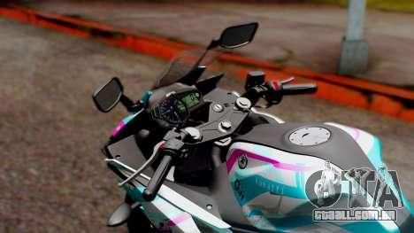 Yamaha R25 2015 EV Mirai Miku Racing 2013 para GTA San Andreas vista traseira