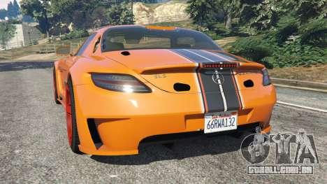 GTA 5 Mercedes-Benz SLS AMG GT3 traseira vista lateral esquerda