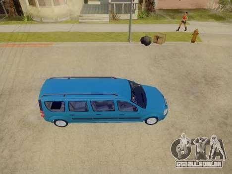 Lada Largus 7-door para GTA San Andreas vista interior