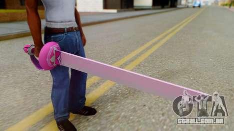 Rose Sword from Steven Universe para GTA San Andreas terceira tela