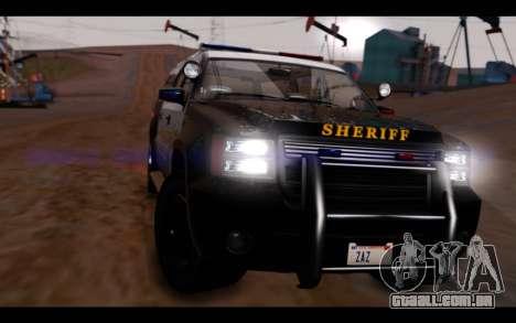 GTA 5 Declasse Sheriff Granger IVF para GTA San Andreas vista direita