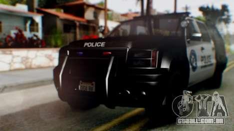 GTA 5 Police Ranger para GTA San Andreas esquerda vista