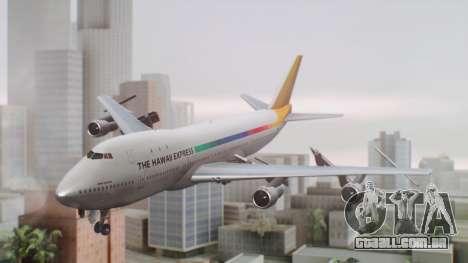 Boeing 747-100 The Hawaii Express Jason Everest para GTA San Andreas