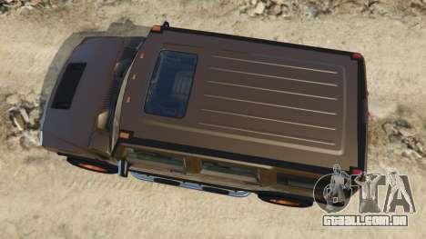 GTA 5 Hummer H2 2005 [tinted] voltar vista