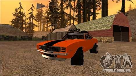 Chevrolet Camaro SS Rusty Rebel para GTA San Andreas vista traseira