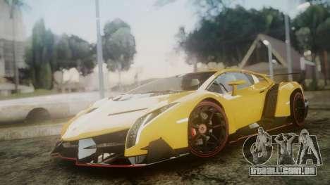 Lamborghini Veneno 2012 para GTA San Andreas traseira esquerda vista