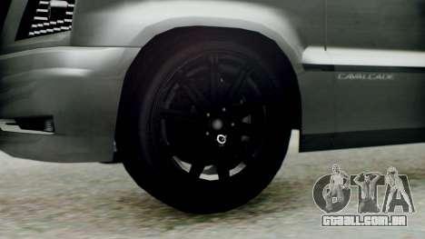 GTA 5 Albany Cavalcade II para GTA San Andreas traseira esquerda vista