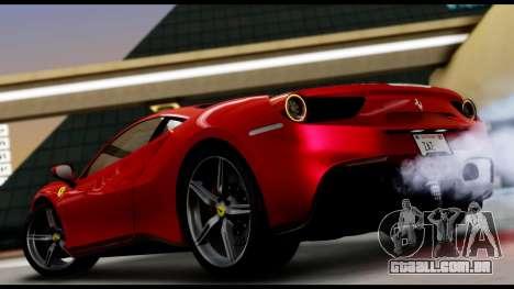 Ferrari 488 GTB 2016 para GTA San Andreas esquerda vista