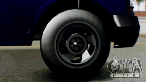 GTA 5 Vapid Speedo para GTA San Andreas traseira esquerda vista
