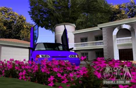 VAZ 2113 KBR para GTA San Andreas vista traseira