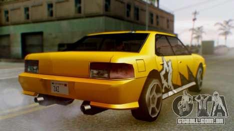 Sultan Винил из need For Speed ProStreet para GTA San Andreas traseira esquerda vista